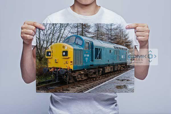Man Holding Class 37 37109 at Rawtenstall Wall Art Print