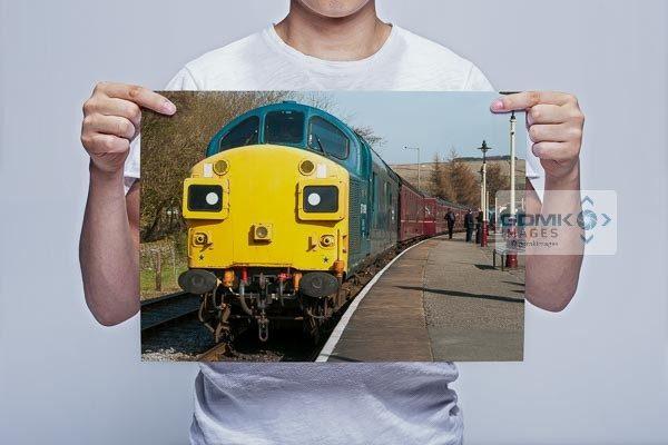 Man Holding Class 37 37109 Wall Art Print