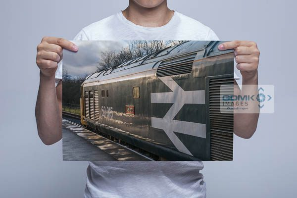 Man Holding Class 50 50015 in Evening Light Wall Art Print