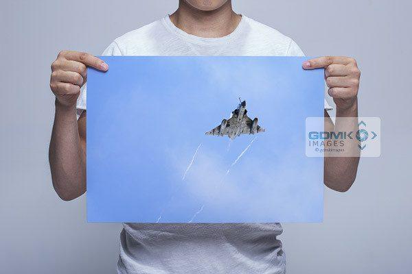Man Holding Mirage 2000 Wall Art Print