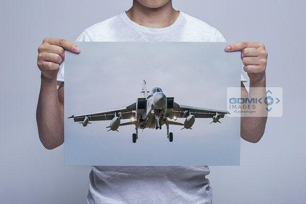 Man Holding RAF 41 Squadron Tornado Wall Art Print