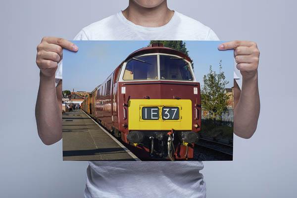 Man Holding Western D1062 at Kidderminster Wall Art Print