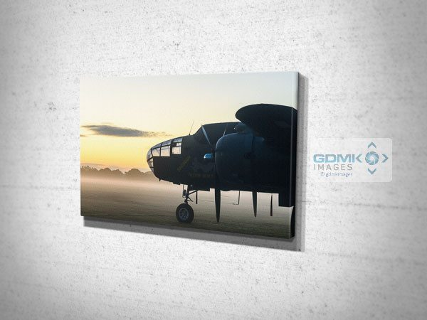 Mitchell B-25 Bomber at Dawn Canvas Wall Art Print
