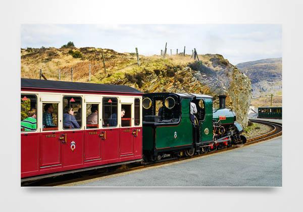 Steam Loco Blanche on the FFestiniog Railway Wall Art Print