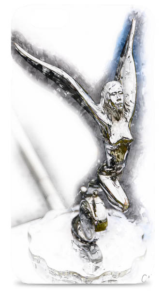 Triumph Gloria Statuette Digital Art Mobile Phone Case