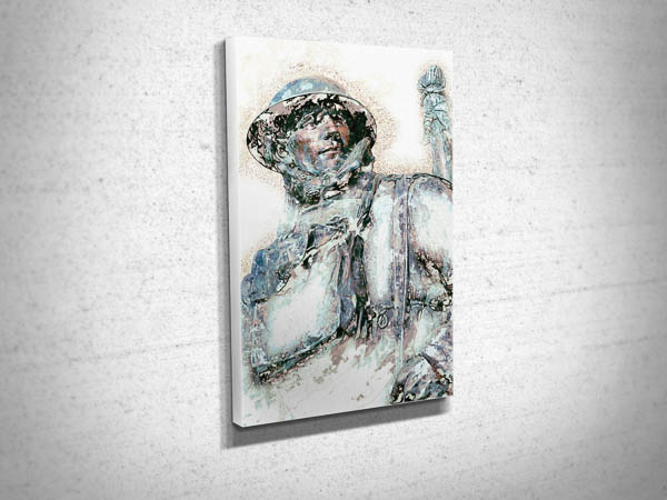 WW1 Soldier Digital Art Canvas Print