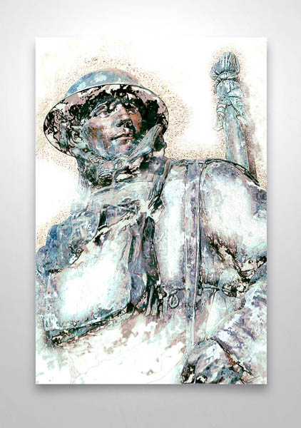 WW1 Soldier Digital Art Print