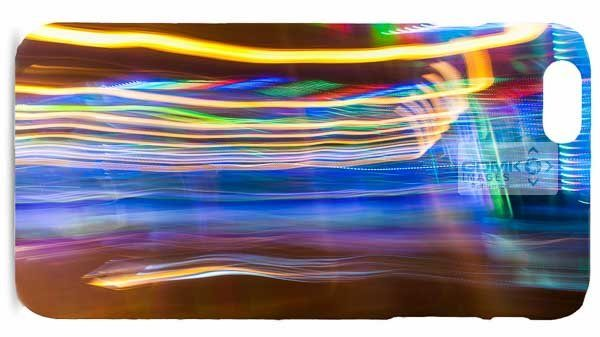 Yellow and Blue Abstract Light Trails Mobile Phone Cases