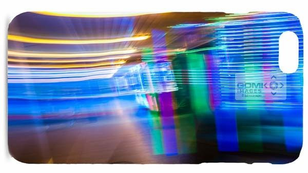 Yellow Blue and Green Abstract Light Trails Mobile Phone Cases
