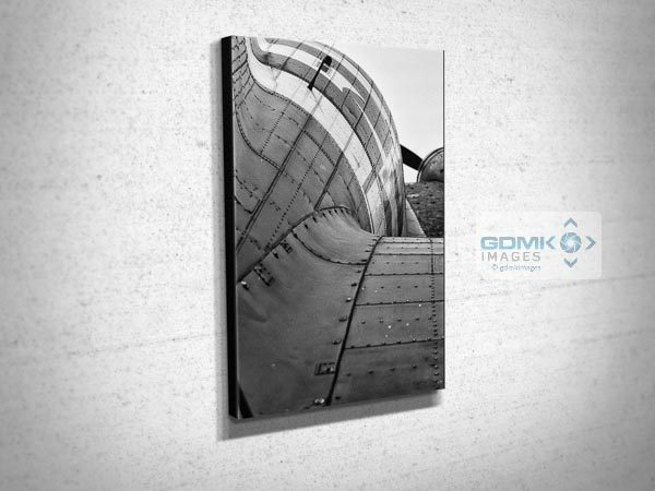Abstract Black and White Rear View of a Dakota Airplane Canvas Print