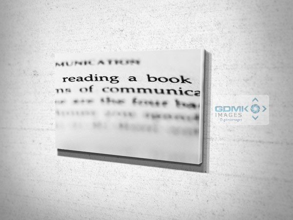 Abstract Reading a Book Words Canvas Print
