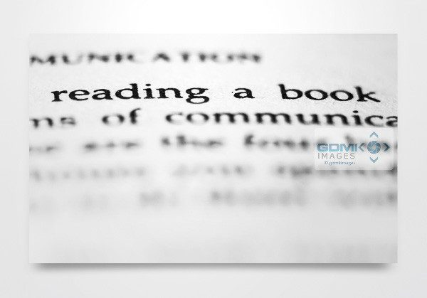 Abstract Reading a Book Words Wall Art Print