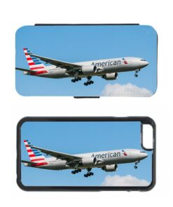 American Airlines Boeing 777 Airplane Mobile Phone Case