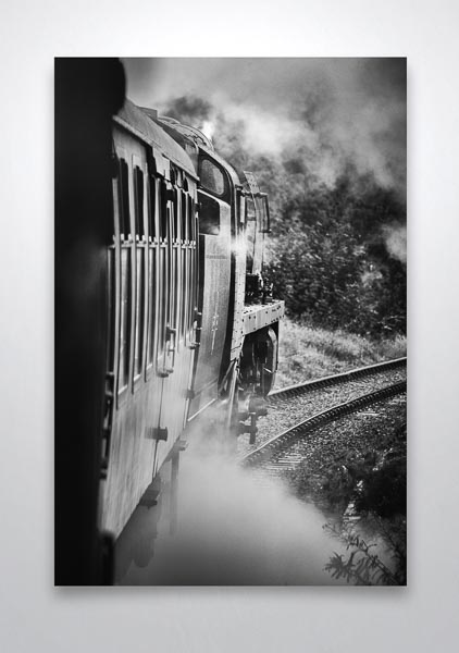 Behind Bulleid 34053 in Black and White Wall Art Print