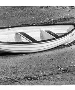Black and White Boat on a Beach Mobile Phone Case