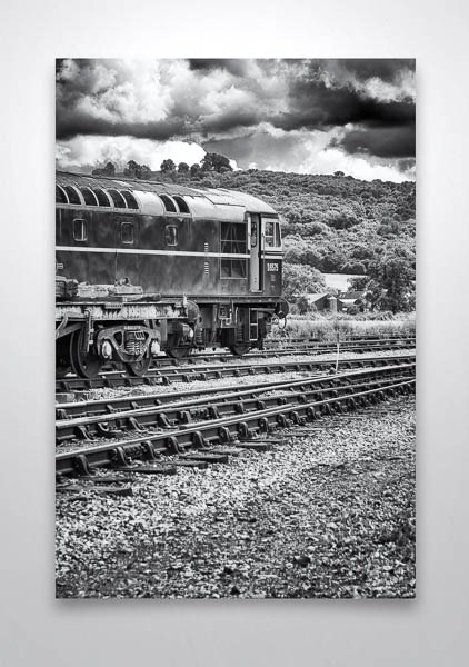 Black and White Class 33 D6575 Wall Art Print