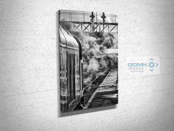 Black and White Class 40 D345 at Bury Canvas Print