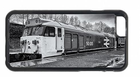 Black and White Class 50 Loco 50015 Valiant at Bury Mobile Phone Case
