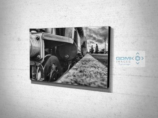 Black and White Low angle Bulleid Light Pacific Canvas Print
