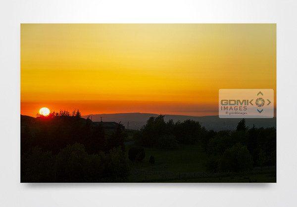 Peak District Sunset Wall Art Print