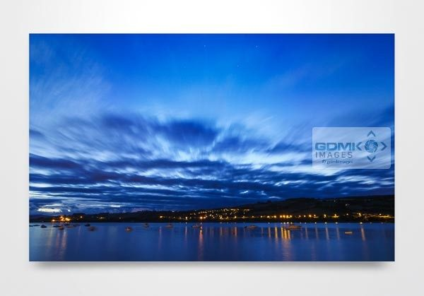 River Teign Blue Hour Wall Art Print