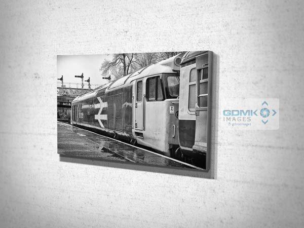 Black and White Class 50 Loco 50015 in the Rain Canvas Print