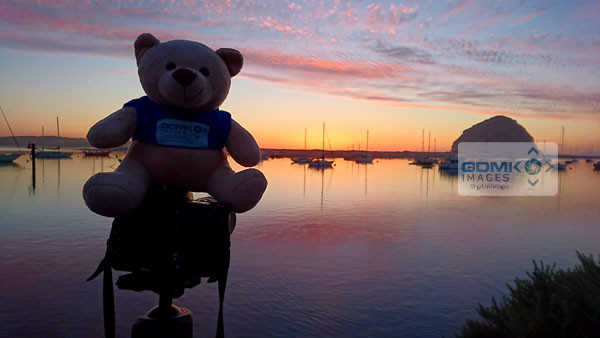 Ted helping out with photographing a stunning sunset at Morrow Bay
