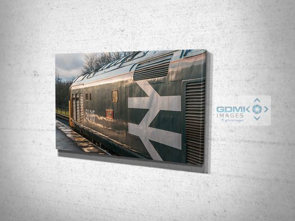 Class 50 50015 in Evening Light Canvas Print