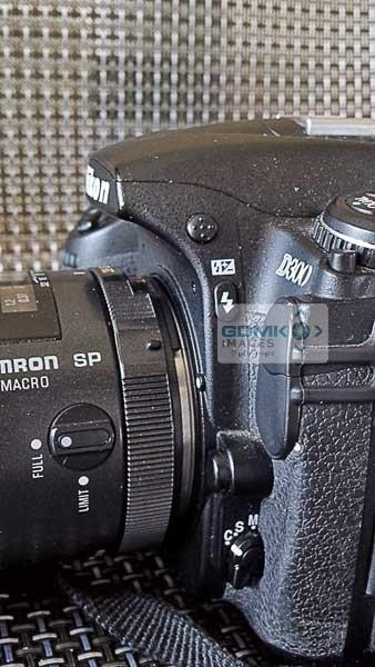Nikon D300 side view
