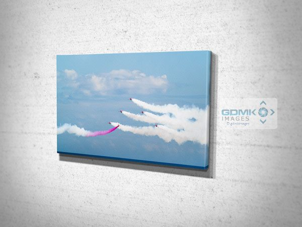 Red Arrows Over The Sea Canvas Art Print