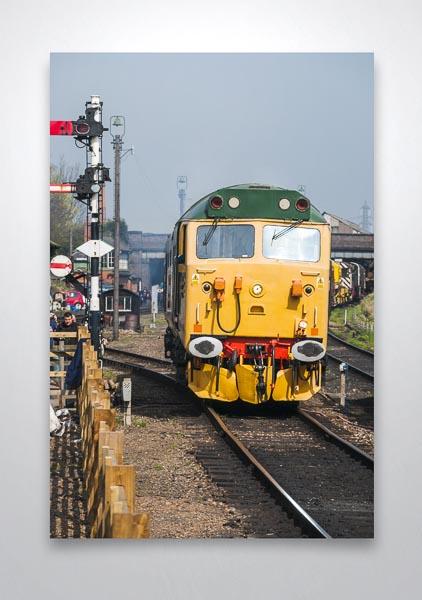 Class 50 50007 at Loughborough Wall Art Print