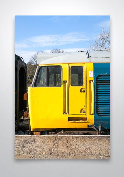 Class 50 Loco Cab Wall Art Print