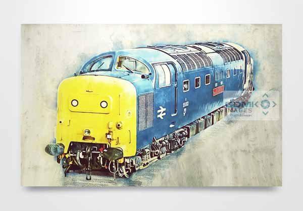 Class 55 55002 Digital Art Wall Art Print