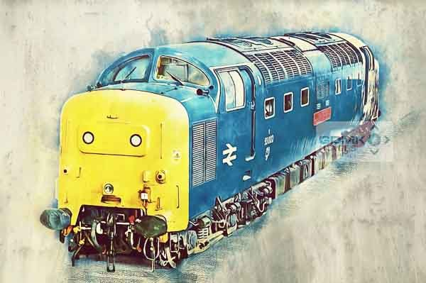 Class 55 Deltic 55002 The Kings Own Yorkshire Light Infantry digital art picture