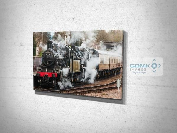 Double Headed Steam Train Canvas Print