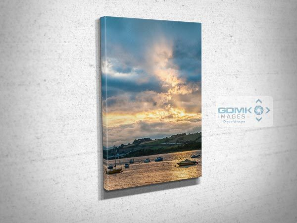 Dramatic Sky Over the River Teign Canvas Print