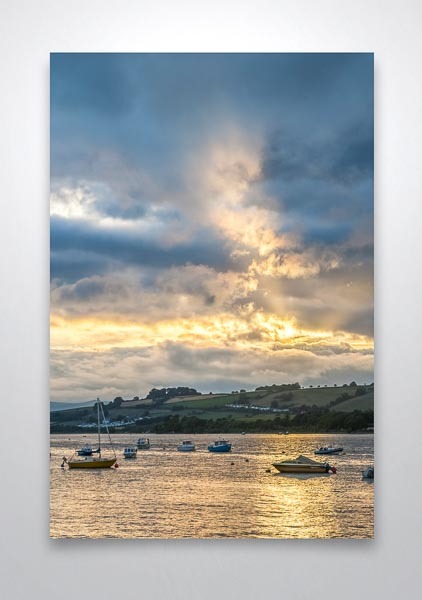 Dramatic Sky Over the River Teign Wall Art Print