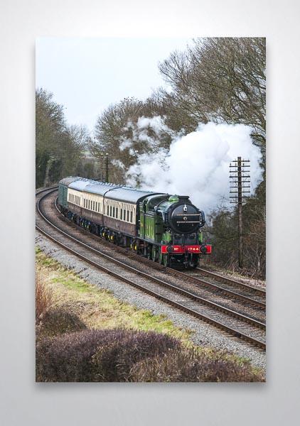 GNR Class N2 0-6-2T Steam loco 1744 Wall Art Print