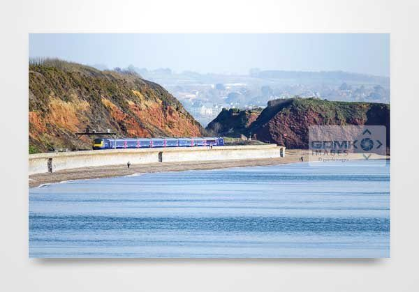 HST Train on Dawlish Sea Wall Art Print