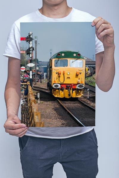 Man Holding Class 50 50007 at Loughborough Wall Art Print
