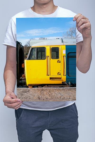 Man Holding Class 50 Loco Cab Wall Art Print