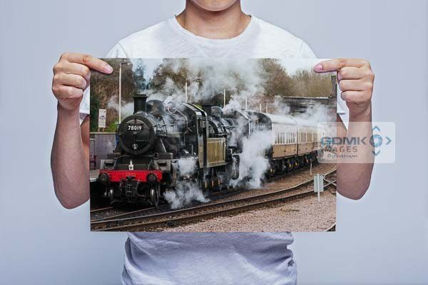 Man Holding Double Headed Steam Wall Art Print