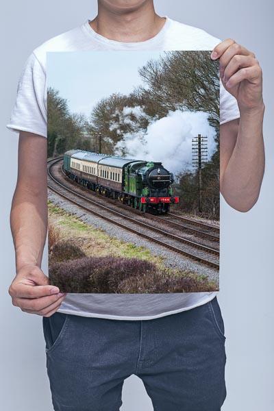 Man Holding GNR Class N2 0-6-2T Steam loco 1744 Wall Art Print