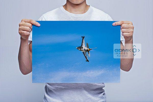 Man Holding RNLAF F16 Performance Takeoff Wall Art Print