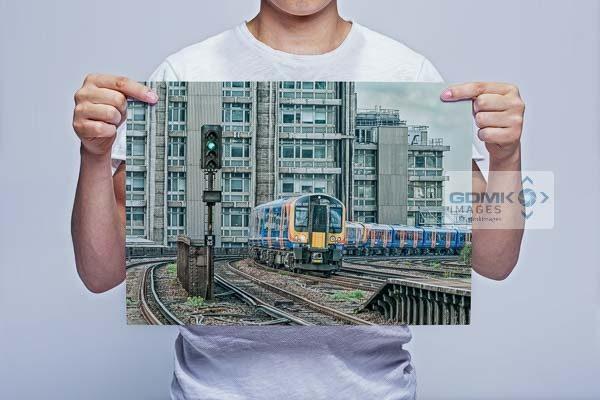 Man Holding Southwest Trains Commuter Train Digital Art Print
