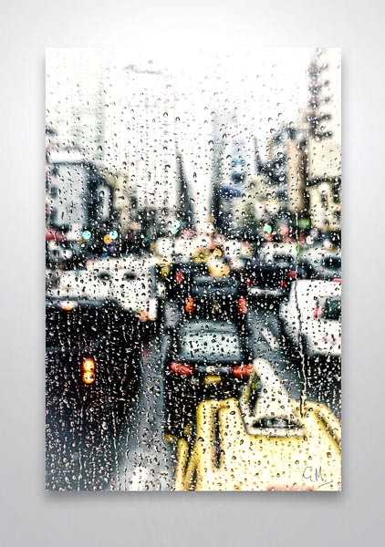 Rainy Day in New York Digital Art Print