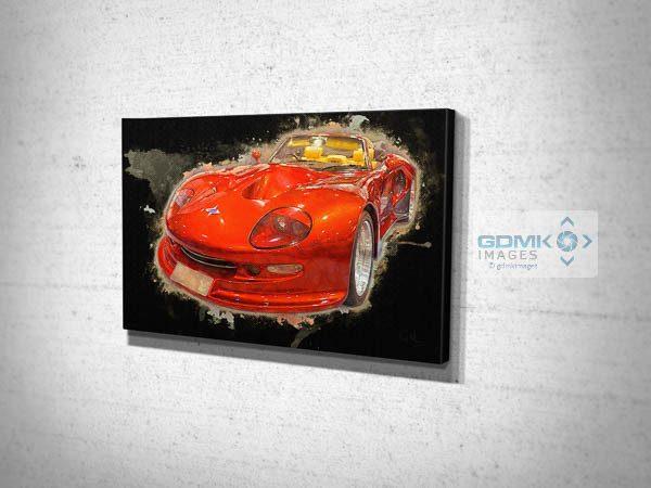 Red Marcos Mantis Car Digital Art Canvas Print