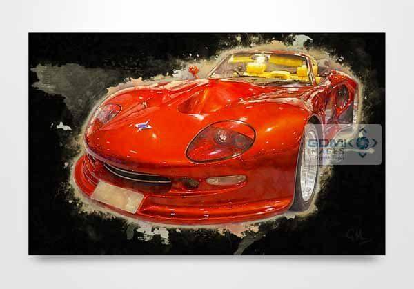 Red Marcos Mantis Car Digital Art Print
