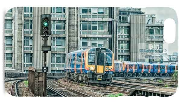 Southwest Trains Commuter Train Digital Art Picture Mobile Phone Case
