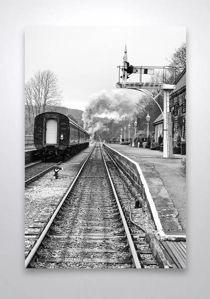 Steam train leaving Darley Dale Wall Art Print